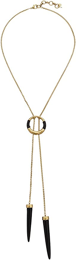 Lucky Brand - Black and Gold Bolo Necklace