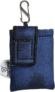 PumpCases Designer Insulin Pump Case w/Carabiner Clip (Med. 630G, Blue Water-Color w/Clip)