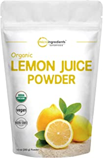 Micro Ingredients Organic Lemon Juice Powder, 10 Ounce, Rich in Natural Vitamin C (Immune Vitamins) for Immune System Boos...