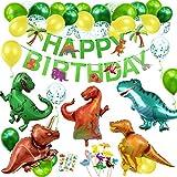 Decoracion Cumpleaños Dinosaurios, Adornos Cumpleaños Dinosaurios,Globos Dinosaurio, Guirnalda Feliz Cumpleaños