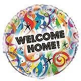 Unique Party 53992 Globo de bienvenida brillante de 18 pulgadas, No aplicable, Multicolor