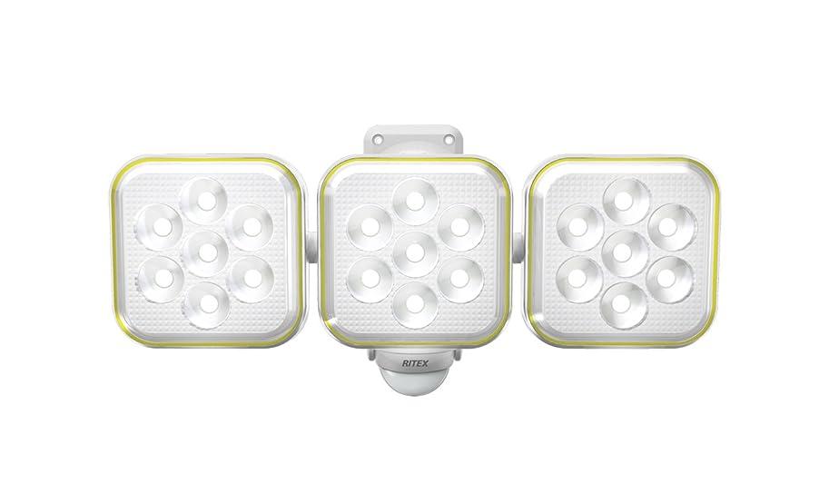大胆踏みつけヒューマニスティックムサシ RITEX フリーアーム式LEDソーラーセンサーライト(5W×3灯) 防雨型 S-90L