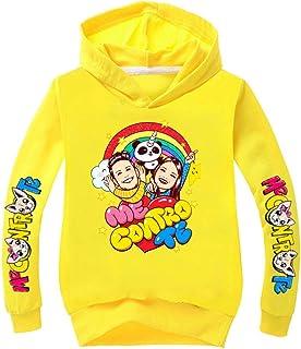 C&NN Personaggi Toddler Bambini Ragazzi Cartoon con Cappuccio Pullover Felpa Tops,Giallo,130cm