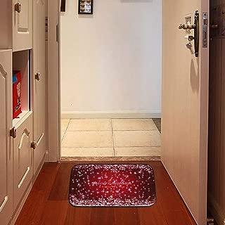 COMLZD Fiber Optic LED Light Indoor Soft Doormat, Touch Activated Lights Home Entrance Floor Rug LED Rave Decor 23.6inch x 15.7inch