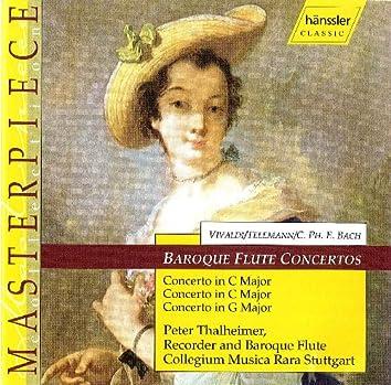 Vivaldi / Telemann / Bach, C.P.E.: Baroque Flute Concertos