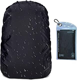OUTJOY Backpack Rain Cover Waterproof Rainproof Backpack Pack Cover with Silver Coating Reinforced Inner Layer for Hiking Camping Traveling Cycling