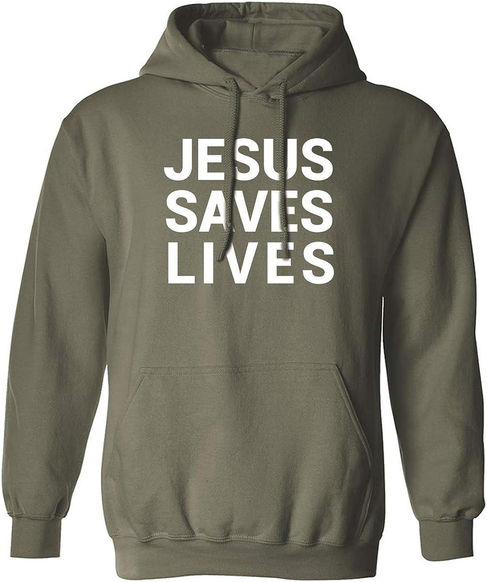 Jesus Saves Lives Adult Hooded Sweatshirt