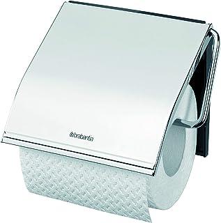 Brabantia ReNew WC rolhouder met Klep - Brilliant Steel