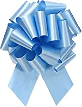 Berwick Offray Ribbon Pull Bow, 8'' Diameter with 20 Loops, Light Blue