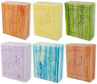 Bela Bath & Beauty, Assorted, Triple French Milled Moisturizing Soap Bars, No Harsh Ingredients, 3.5 oz eac...