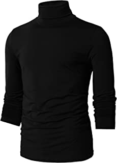 H2H Mens Casual Slim Fit Turtleneck Pullover Sweater Knitted Basic Designed