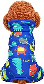 Teddy Dog Clothes ,Winter Overalls For Dogs ,Doodle Four-legged Cotton Coat, Autumn And Winter Pet Clothes, Pajamas Warm (...