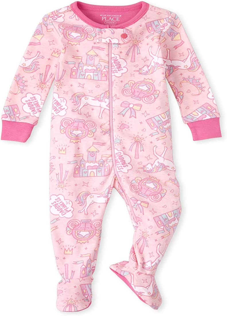 The Children's Place Baby And Toddler Girls Magical Snug Fit Cotton One Piece Pajamas