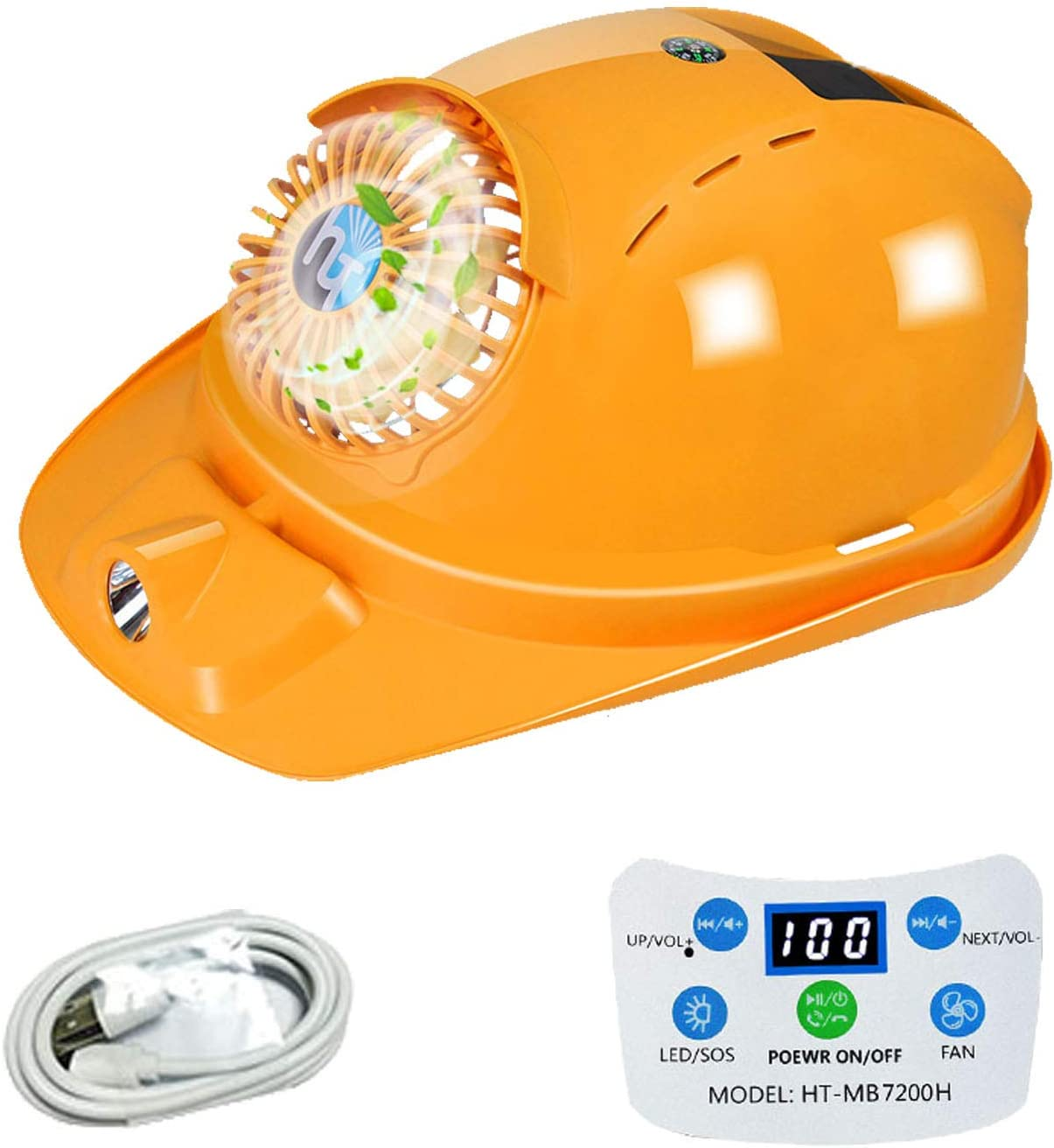 Solar Hard Hat store Safety Cap with Cool Output Fan Superlatite USB Suit Cooling