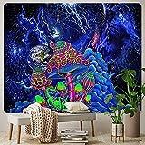Luna Cielo Estrellado Decoración Del Hogar Arte Gran Tapiz Seta Escena Psicodélica Decoración Bohemia Sofá Manta Qyy-217