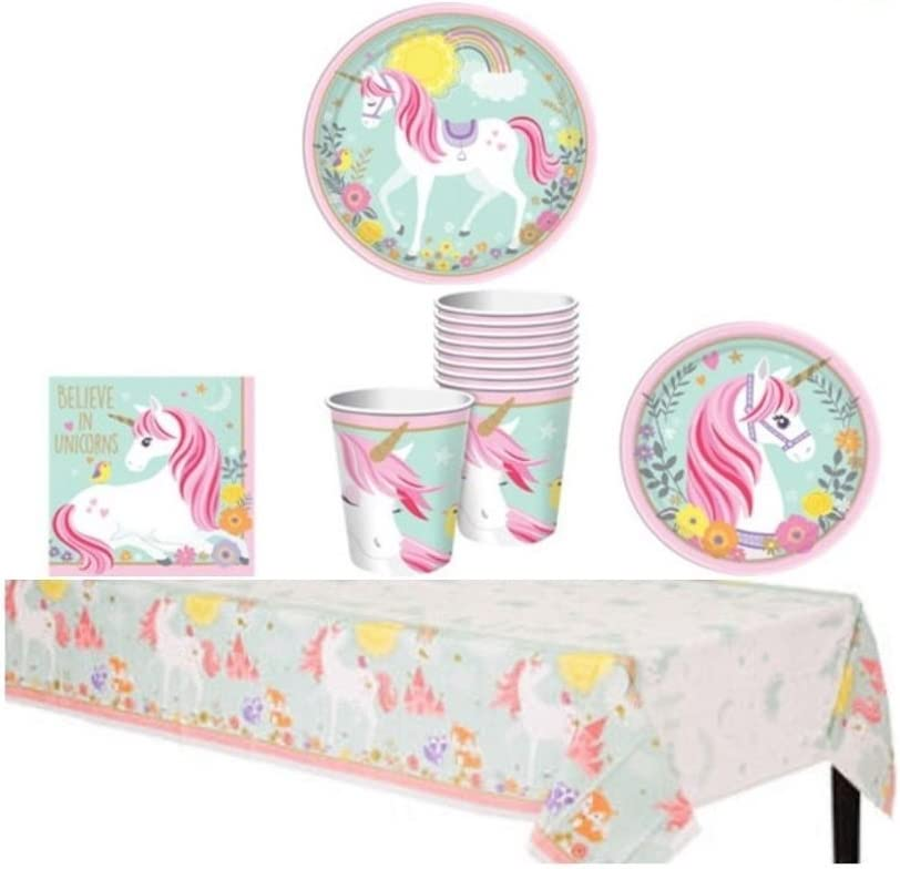 Magical Unicorn Party Supply Pack - セール価格 Guests for Lu 16 定価 Tableware