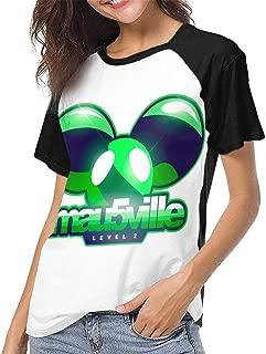 Deadmau5 Womens Summer Short Sleeve Casual Baseball T Shirt