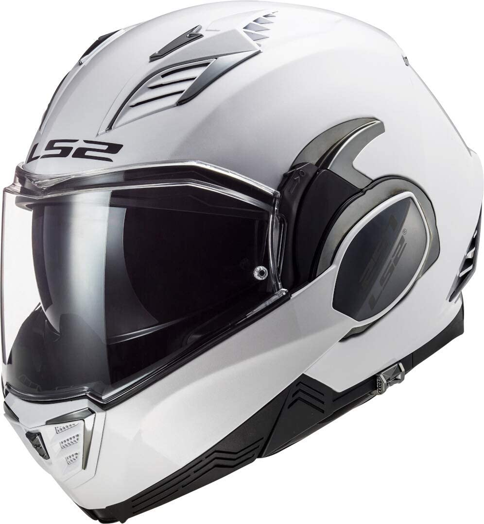 LS2 Valiant II Casco de Moto, Hombre, Blanco, M