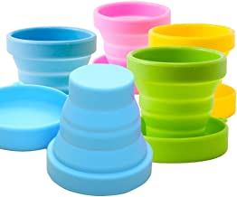CHRISLZ 5 PCS Collapsible Water Cup Foldable Portable Silicone Drinking Cup for Outdoor Activities(5)
