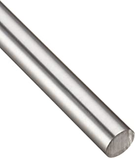 12 Length AMS 5639//ASTM A276//AMS QQ-S 763//ASTM A276 Annealed Unpolished Finish 304 Stainless Steel Round Rod 0.1875 Diameter Mill