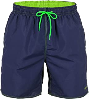 Zagano Men's Swimming Trunks Boardshorts with Drawstring Swimming Trunks Sports Shorts XXXL Black Made in EU - Blue - X-Large