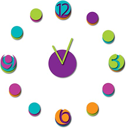 b4d8861e1 Home Decor Line Colorful Clock Wall Decal