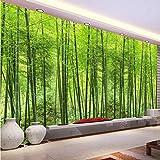 Carta Da Parati Personalizzata Pittura Foresta Di Bambù Parete Soggiorno Tv Sfondo Decorazione Murale Carta Da Parati 3D-(W)400X(H)280Cm