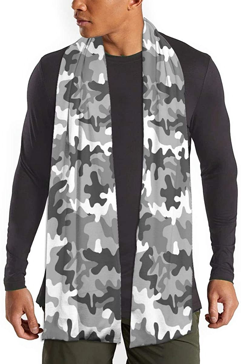 White Black Art Camouflage Scarfs – Imported Lightweight Neckwear Blanket Wrap Winter Shawl