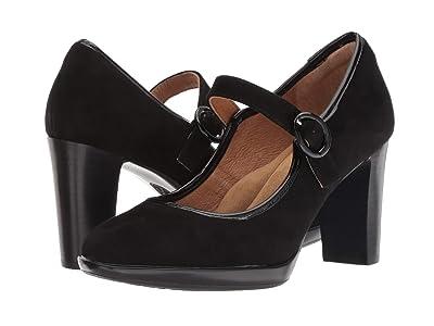 Sofft Natara (Black King Suede/Goat Patent) High Heels