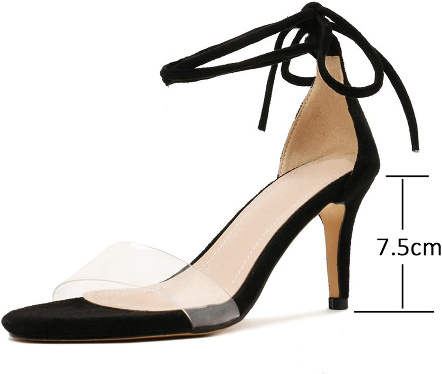 Women Sandals Sexy Women shoes Sexy Party Thin High Heel Cross-Tied Solid Lace Up Sandals 34-43