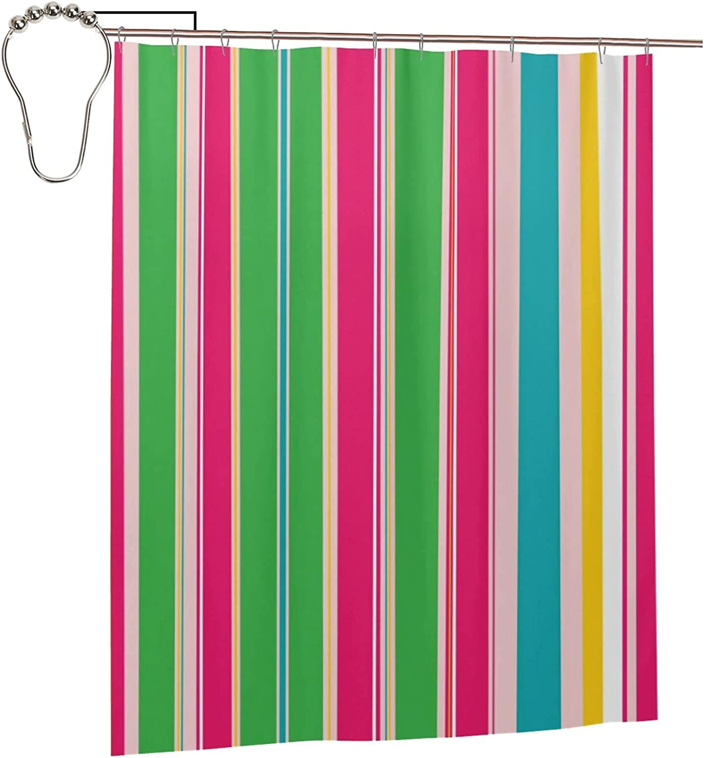 WIUEZWY Strips Selling rankings Waterproof Fabric Odorless Japan's largest assortment Curta Shower Curtains