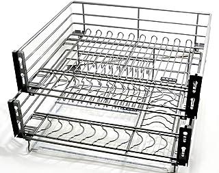 Karnih Tiroir télescopique de Plateau de Rangement d'organisateur de Cuisine pour 600/720/750 / 800MM d'armoires de Cuisin...