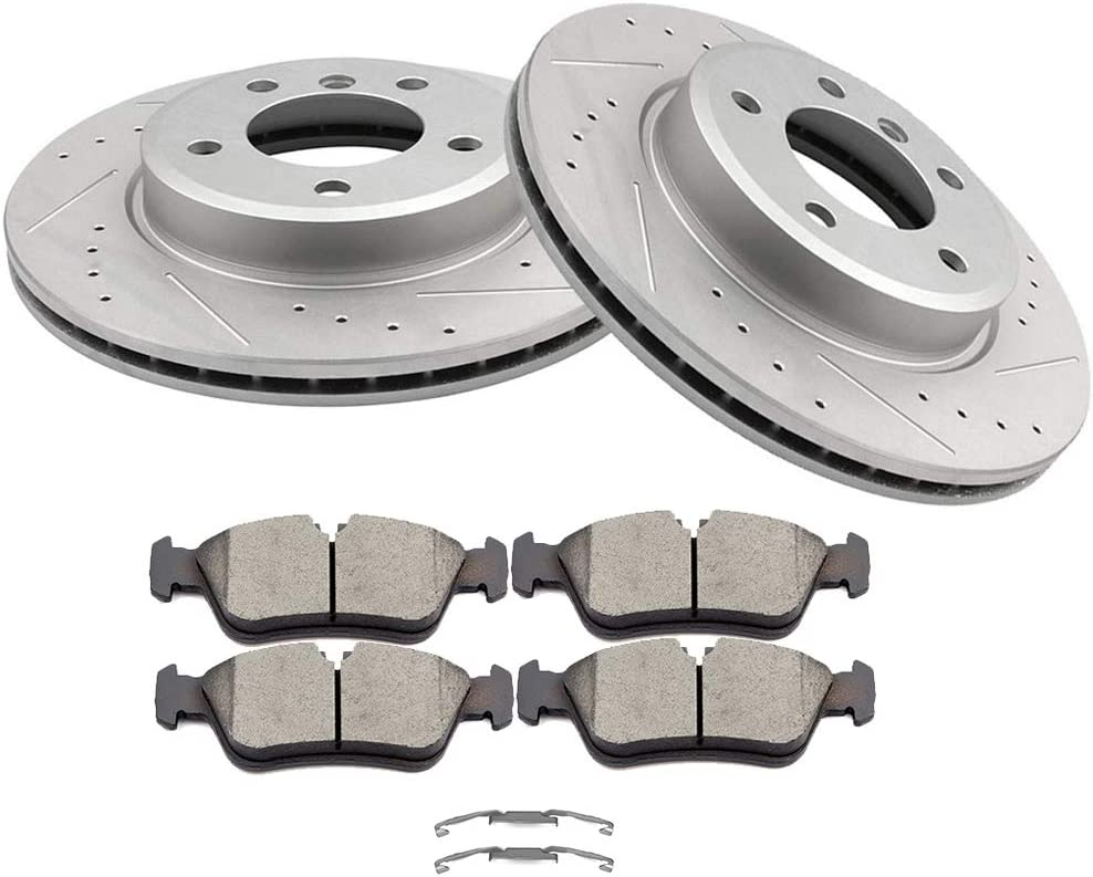 OCPTY Brakes Kits with 2 Front Brake and Ceramic 4 Disc gift Rotots P High order