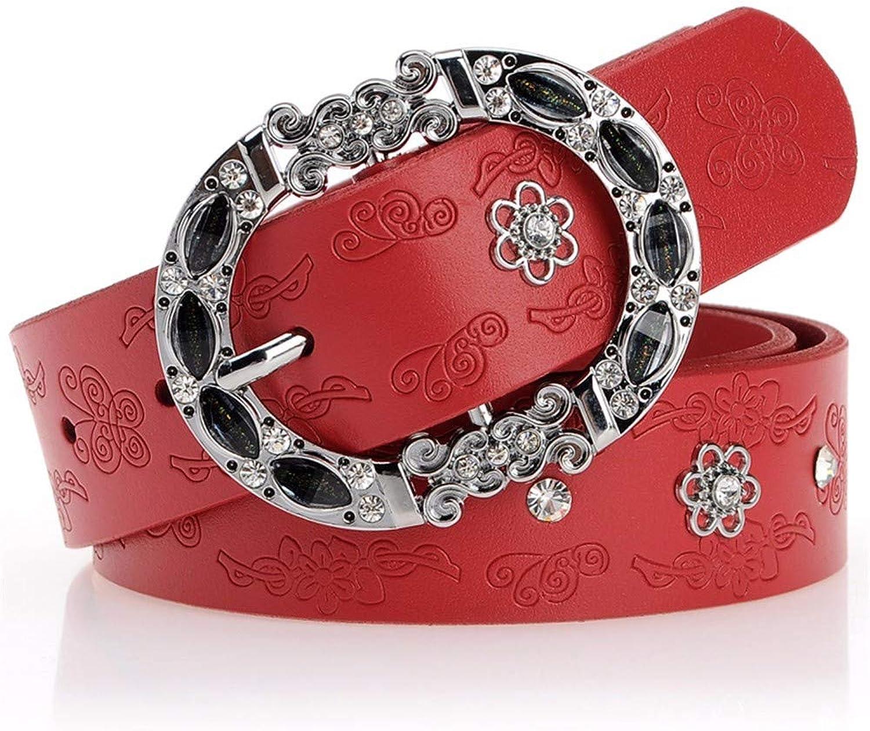 Belt lady diamond drill decorating leather shorts belt,105cm,gules
