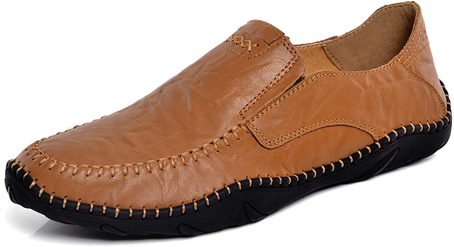 XHD-Men's shoes Driving Loafer for Men Fashion Unsubdivided Solid Colours Flexible Slip On Boat Moccasins(Hollow Optional)