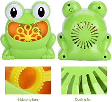 Tnfeeon Bubble Machine, Portable Automatic Frog Bubble Machine Birthday for Kids Children Showers Indoor/Outdoor Parties Wedd