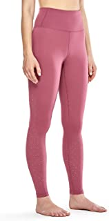 CRZ YOGA Women's Luxury High Waist Side Cutout Workout Tights Leggings with Pockets-28 Inches