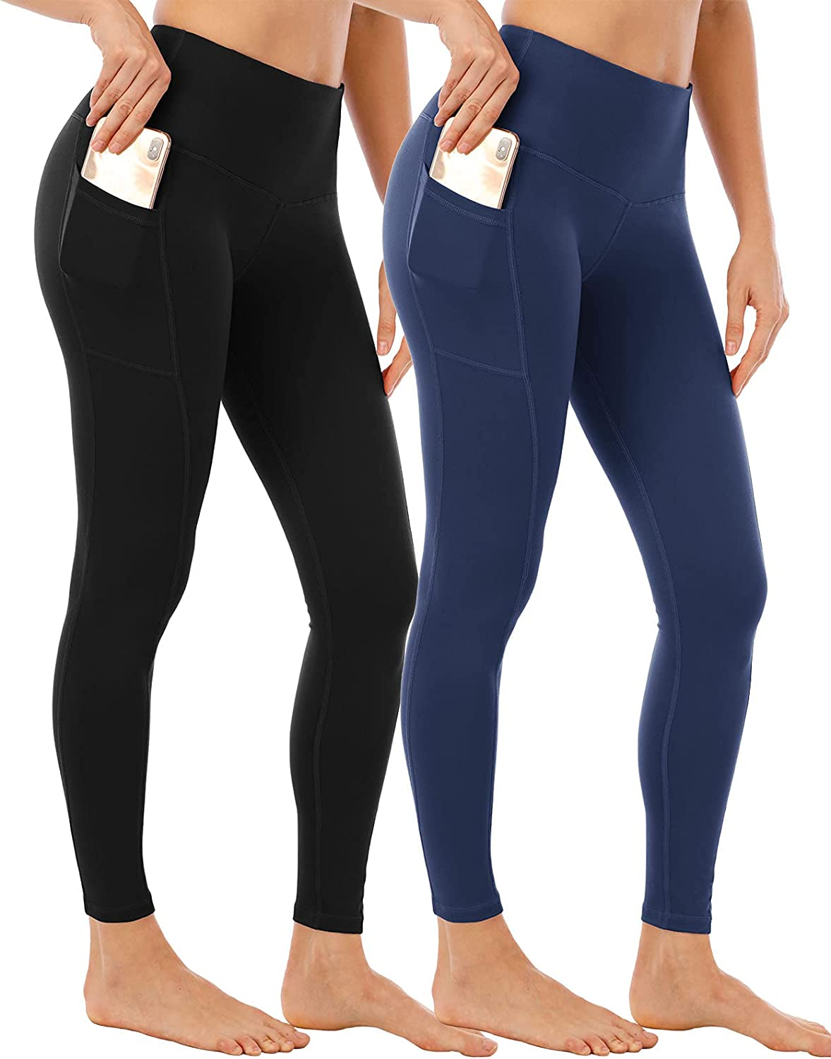 NORMOV Japan's largest assortment Womens Leggings with Spasm price Pocket Waist High Control Work Tummy