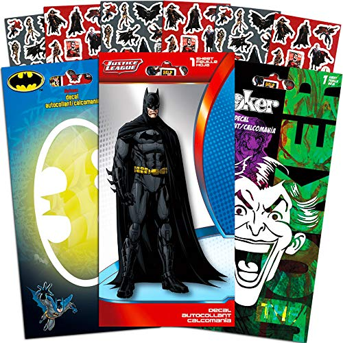 Batman Decals DC Comics Set with Bonus Stickers -- 3 Large Batman and Joker Decal Stickers for Car, Laptop, Walls, Room Decor (Batman Merchandise)