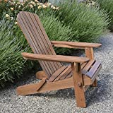 Plant Theatre Adirondack Outdoor Garden Folding Acacia Hardwood Chair with an Oiled Hand Finish