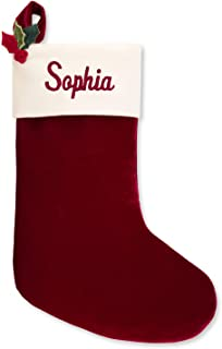 Things Remembered Personalized 21-Inch Red Velvet Stocking with Embroidery Included