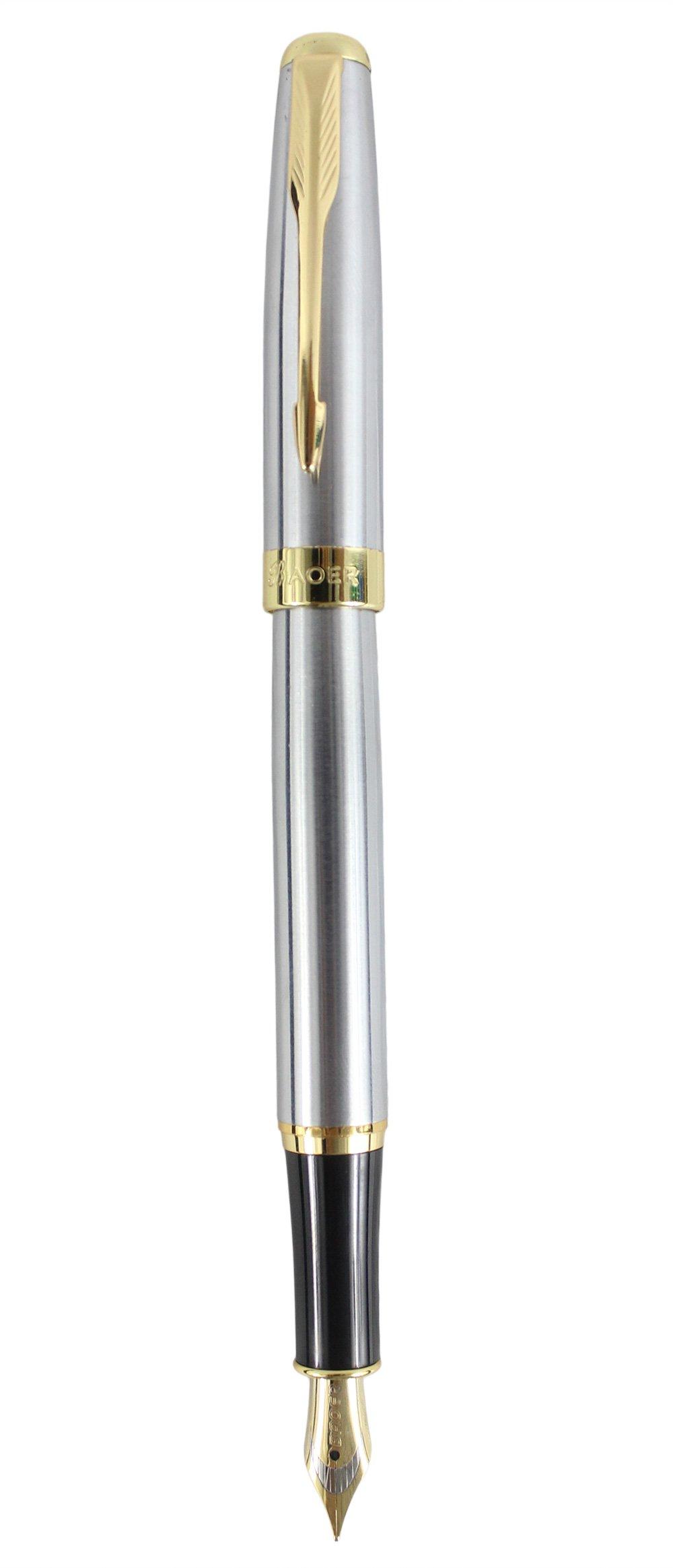 Sipliv oro clásico de ajuste medio plumín de la pluma estilográfica - caja de regalo, astilla: Amazon.es: Oficina y papelería