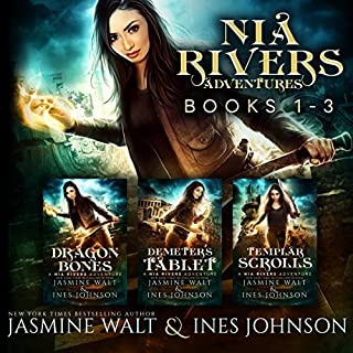 The Nia Rivers Adventures, Books 1-3     Dragon Bones, Demeter's Tablet, Templar Scrolls              By:                                                                                                                                 Jasmine Walt,                                                                                        Ines Johnson                               Narrated by:                                                                                                                                 Kate Marcin                      Length: 17 hrs and 58 mins     124 ratings     Overall 4.4