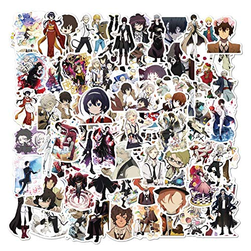 XZZ Bungou Stray Dog Anime Sticker Sticker Handbook Bagaglio Laptop Phone Computer Adesivo Impermeabile 50Pcs