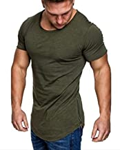 MODCHOK Men's T-Shirt Long Sleeve Basic V Neck Slim Fit Hipster Shirt Sweatshirt Casual Tee Tops