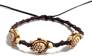 Bracelet or Anklet Sea 3 Turtle in Cream Brown Bracelet or Anklet Turtle Hemp Bracelet Hawaiian