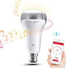Sengled Smart Bulb B22 Base with JBL Bluetooth Speakers, App Controlled Dual Channel Dimmable LED Light Bulb, 60W Equivale...