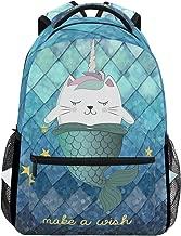 cat mermaid backpack
