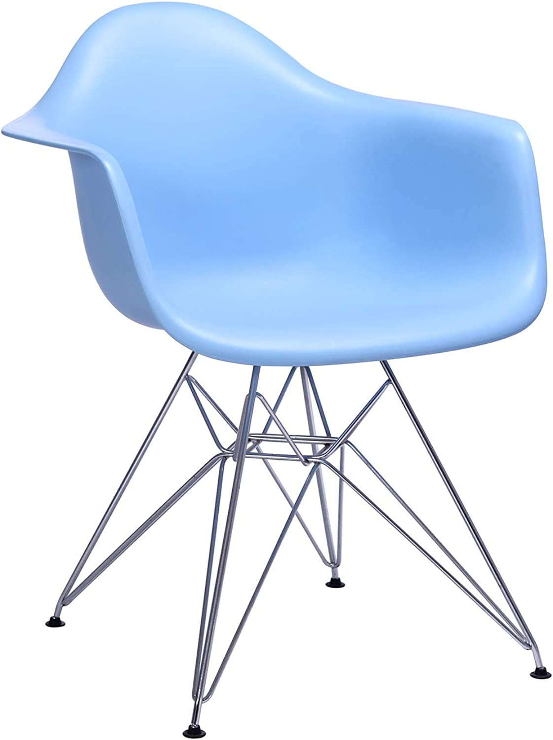 LRW European Style Plastic Chair Armrest, Leisure Home Chair, Chair, Chair, bluee