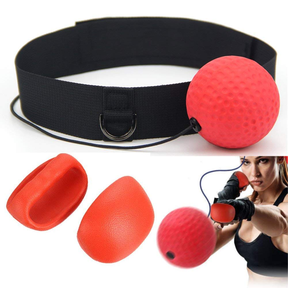 Fight Reflex Ball on String with Headband for Fight MMA Training Speed Reactions Adult//Kids Improve Punch Focus Sport Exercise Practice Fitness Elastic Rope Head Band Set Asamoom Reflex Boxing Ball
